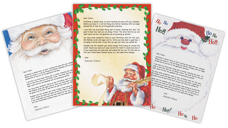 Letter from santa create personalized printable santa letters print and post santa letters spiritdancerdesigns Images
