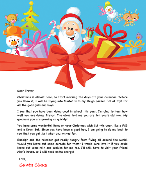 Santa letter example personalized letters from santa santa letter for children spiritdancerdesigns Images